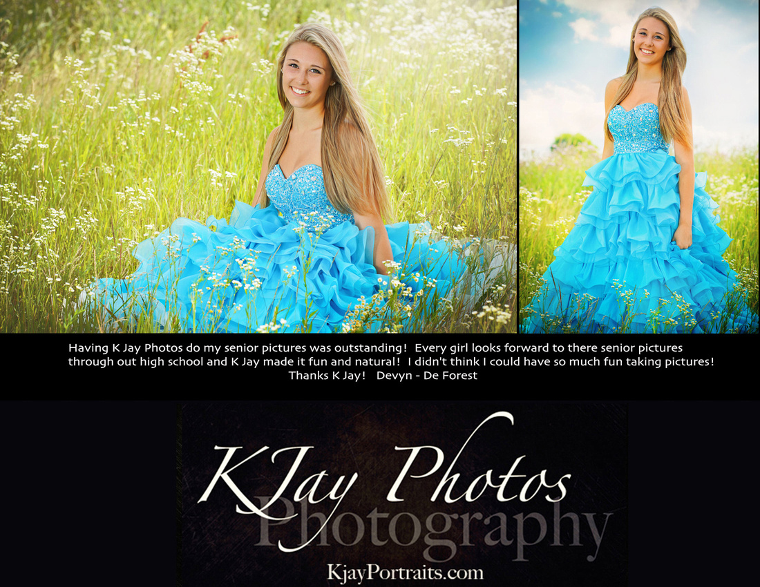 K Jay Photos Photography Madison WI Reviews.  Devyn, De Forest WI High School Senior.